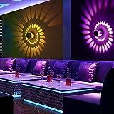 Wandleuchte für Schlafzimmer Wandleuchte Innen Wandleuchten Auf und ab Einfach 3W LED Spiral Wandlampe LED Wandlampe AC85-265V Aluminium Wandlampe Deckenlampe Beleuchtung KTV Bar Party