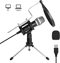 USB Microphone for Computer, ARCHEER PC Microphone for Laptop MAC or Windows, Professional Plug&Play Condenser Studio Microphone for Recording, Streaming Broadcast, YouTube, Gaming, Voice Over.