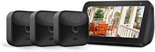 Echo Show 5 (Charcoal) with All-new Blink Outdoor – 3 camera kit