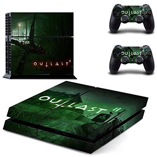 FENGLING Game Outlast Ps4 Skin Aufkleber Aufkleber für Playstation 4 Konsole und 2 Controller Skin Ps4 Aufkleber Vinyl Zubehör
