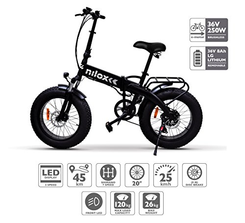 Nilox E Bike X4, Fat Bike Pieghevole  – Adulto,...