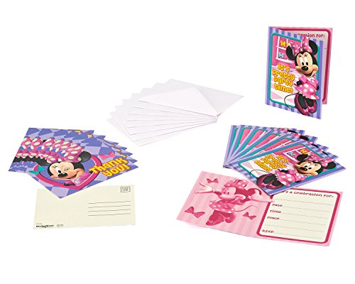 American Greetings Minnie Mouse Invite and Thank-You Combo Pack, 8-Count