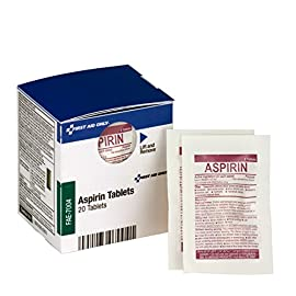 First Aid Only FAE-7004 SmartCompliance Refill Aspirin, 2/Packet, 10 Packets Total 3 SmartCompliance refill is for First Aid Only part numbers 90608, 746000, 1000-FAE-0103 and 1300-FAE-0103. Offer temporary relief of minor aches and pains Contains 10 individually sealed packets of 2 tablets