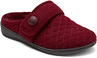 Vionic Women's Indulge Carlin Flannel Mule Slipper- Comfortable Spa House Slippers that include Three-Zone Comfort with Or...
