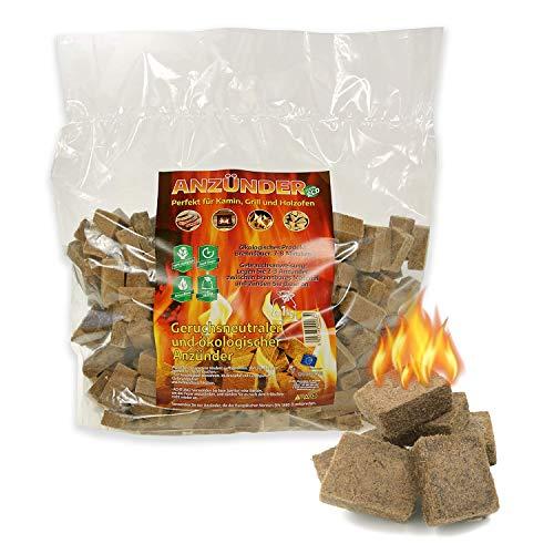 WOLOSZYN Öko-Kaminanzünder - 1 kg - Anzünder - Feueranzünder für Grill, Kamin und Feuerschalen