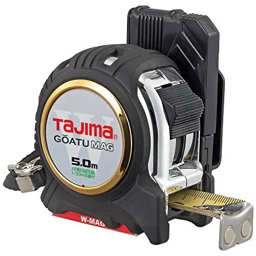 タジマ(Tajima) コンベックス 剛厚テープ5m×25mm 剛厚セフGロックダブルマグ25 尺相当目盛付 GASFGLWM2550S