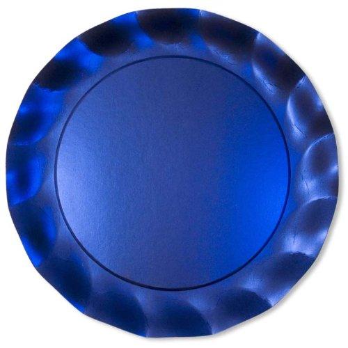 EX.XTRA Piatto Maxi Blu Satinato 5Pz diam.32,4cm