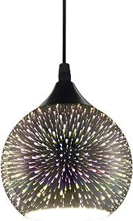 RUIBO LED Moderne Pendentif Lumière 3D Feux D'artifice Coloré Plaqué Verre Boule Décoré Bar Salle À Manger Cuisine Lampe S...