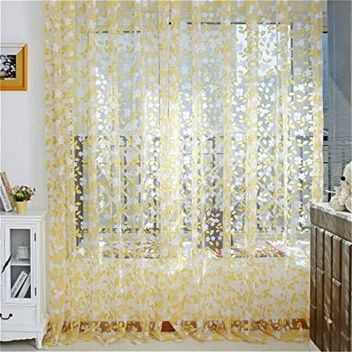 YAHLSEN Romantisches Tüll Pastoral Window Screens Tür Balkon Vorhang, Größe: 1Mx2.8M Nicht verarbeitet (Pink) Q (Color : Yellow)