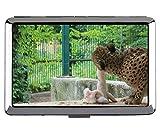 Scatola delle sigarette, scatola delle sigarette per il trasporto della tasca del leopardo della famiglia del gatto leopardo