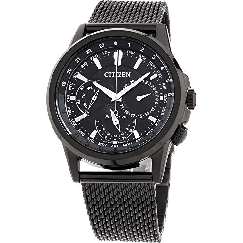 Citizen Calendrier Eco-Drive Black Dial Men's Watch BU2025-76E