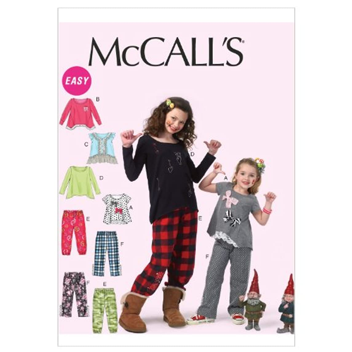 McCall Patterns M6596CHJ Children's/Girls' Tops and Pants Sewing Pattern, Size CHJ (7-8-10-12-14)