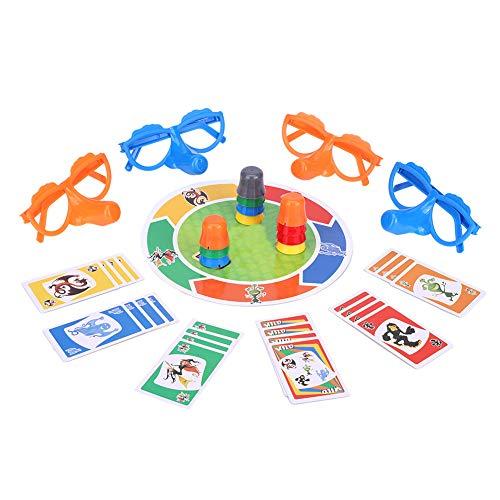 Kaartspel, feestplezier Bordspel Speelgoedset Groeiende neus Familie Interactief speelgoed voor kinderen Interactieve spellen voor ouders