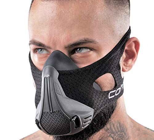 coher Training Mask – Altitude Training Masks for Men and Women – Workout Sports Masks for Resistance and Endurance – 24 Breathing Resistance Levels – Ideal for Running, Jogging, Cycling, Hiking
