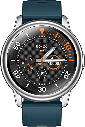 Rastreador de fitness con podómetro de monitoreo de frecuencia cardíaca con reloj inteligente impermeable para hombre y mujer - Azul