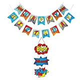 BJ-SHOP Superhelden Banner,Superheld Thema Dekoration Superheld Türschild für Party Supplies...
