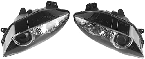 lowest Mallofusa Motorcycle Front 2021 Headlight Headlamp Assembly Compatible for Yamaha YZF R1 2004 2005 online 2006 Clear Lens sale
