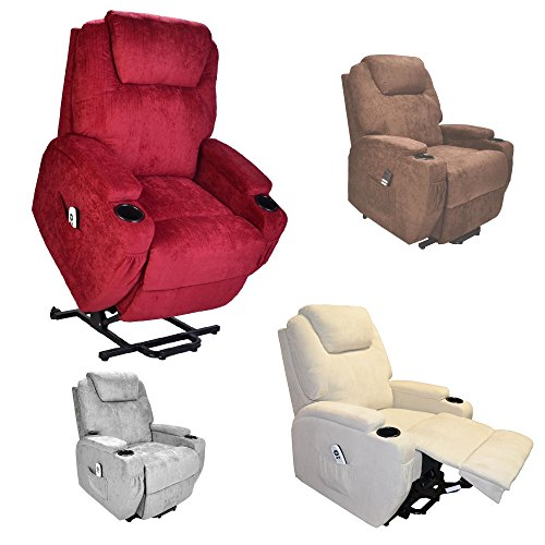 Burlington dual motor electric Riser and Recliner mobility lift chair - choice of colours (Wine Fabric)