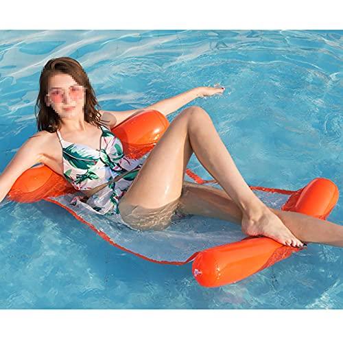 BDBY Piscina Flotante Inflable Reclinable Adulto, Gigante de Verano Piscina portátil Hamaca Flotante de Ocio, al Aire Libre/de Playa/Piscina/Lago S