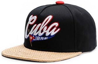 TRGFB Baseball Cap Marca Cuba Libre Cap Algodón Hip Hop Sombrero del Snapback para Hombres Mujeres Adultos Fútbol al Aire Libre Casual Sol Gorra de béisbol Hueso