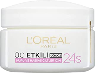 L'Oreal Paris Triple Active Day Moisturiser Dry and Sensitive Skin 50 ml