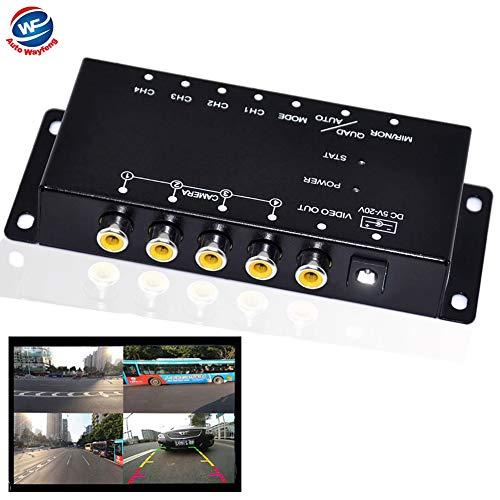 Auto Wayfeng WF® IR-Steuerung 4 Kameras Video-Steuerung Auto-Kameras Bild-Schalter Combiner-Box für die Linke Ansicht Rechte Ansicht Vorne Hinten Parkplatz Kamera-Box