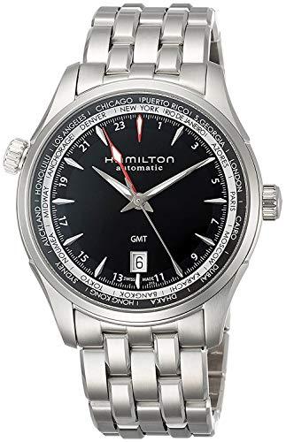 Hamilton Jazzmaster Black Dial GMT Stainless Steel Mens Watch H32695131