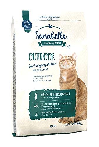 Sanabelle Outdoor | Katzentrockenfutter für ausgewachsene Katzen (ab dem 12. Monat) | besonders geeignet für Freigängerkatzen mit erhöhtem Bewegungsumfang | erhöhter Energiegehalt