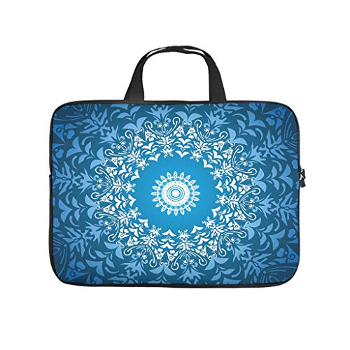 Dark Blue Mandala 3D Print Laptop Sleeve Case Protective Cover Scratch Resistant Neoprene Laptop Sleeve Case Computer Accessories