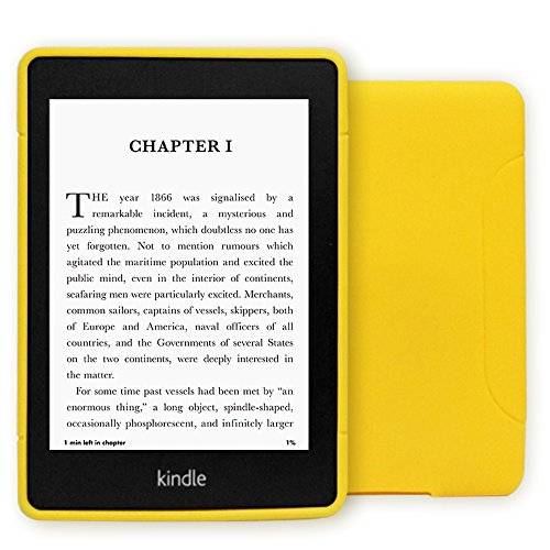 Young me 10th Generation Kindle Paperwhite Cover - Slim Fit TPU Gel Protective Case Cover for 2018 All-New Kindle Paperwhite (Yellow)