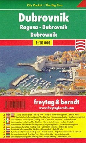 Dubrovnik: City Pocket + The Big Five - Maßstab 1:10.000: Stadskaart 1:10 000 (freytag & berndt Stadtpläne)