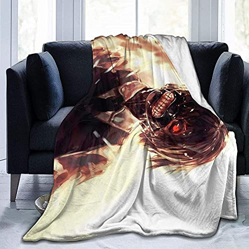 Tokyo Ghoul Throw Blanket for All Seasons Lightweight Bed Blanket Warm Thick Fluffy Blanket for Bed Chair Couch Picnic Camping Beach Travel Throw Blankets 80x60