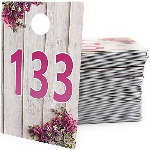 GoalWish Ventures Large Live Sale Number Tags for Facebook Live Sales and LuLaroe Supplies, Normal and Reversed Mirrored Image, Reusable Hanger Cards, 100 Consecutive Numbers (101-200)