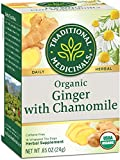 Traditional Medicinal Organic Ginger with Chamomile Tea - 16 Bags
