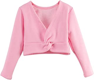 Girls' Classic Thick Ballet Long Sleeve Wrap Top