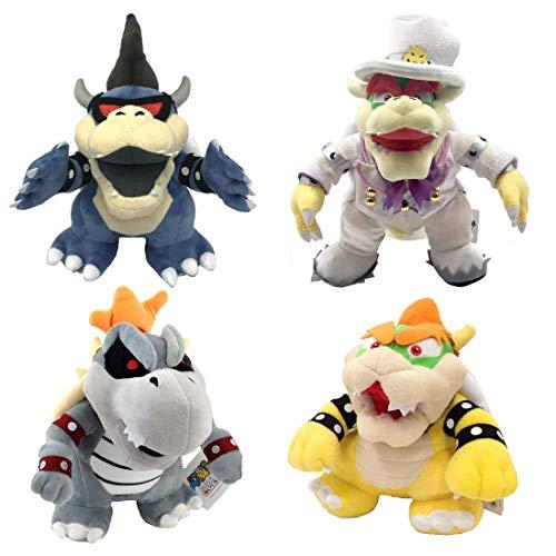 Cxjff Sushi Pusheen Quallenkrake 4X Super Mario Bros Odyssey Dunkler König Dry Brautkleid Bowser Knochen Skeletal Koopa weiches Plüsch-Spielzeug