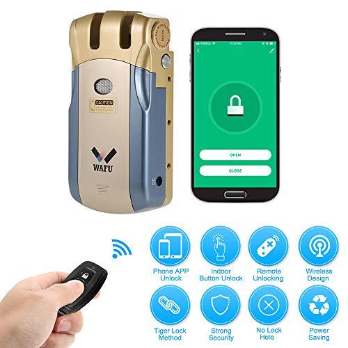 WAFU HF-018W Cerradura Invisible, Cerradura Inteligente WiFi, Cerradura Control...