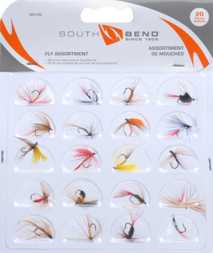 South Bend SBFLY20 20Pk Assorted Flies
