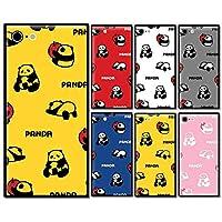 スマホケース スクエア ガラス パンダ 林檎 リンゴ 動物 アニマル 果物 05:イエロー iphone6 iphone6s