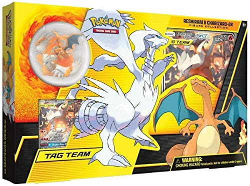 Pokemon TCG: Reshiram & Charizard-Gx Figure Collection, Multicolor