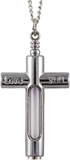 Memorial Cremation Ashes View Cross Necklace Love You