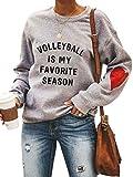 Women Plus Size Long Sleeve Crewneck Pullover Sweatshirt Heart Graphic Raglan Baseball Tee Shirts Top XXL Grey-3