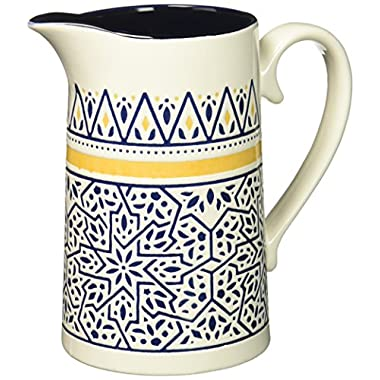Now Designs Stoneware Pitcher, Medina