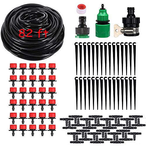 Kalolary 82ft/25m Drip Irrigation Kit, 4/7