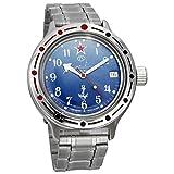 Vostok Amphibia 420289 - Reloj de buceo ruso para hombre (200 m, correa de acero inoxidable)
