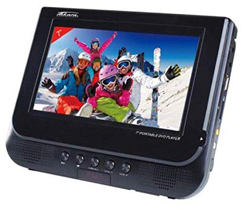 """Takara Lecteur DVD Portable Double Ecran 7"""" - Lecteurs DVD/Blu-Ray Portables (Convertible, Noir, CD Audio, CD-R,CD-RW, 17,8 cm (7""""), 17,7 cm)"""