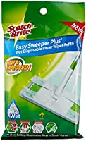 Scotch-Brite Easy Sweeper Wet Sheets Refill, Green, 8 count
