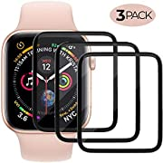 Screen Protector Compatible with Apple Watch (44mm Compatible with iWacth Series 4),HD Anti-Bubble Scratch-Resistant Guard Cover Protective Soft Screen Protector 3-Pack