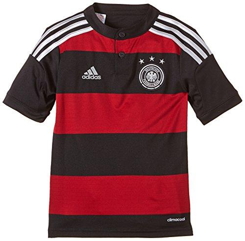 adidas Kinder Trainingsshirt DFB Trikot Away WM Heimtrikot, Schwarz/Rot, 164