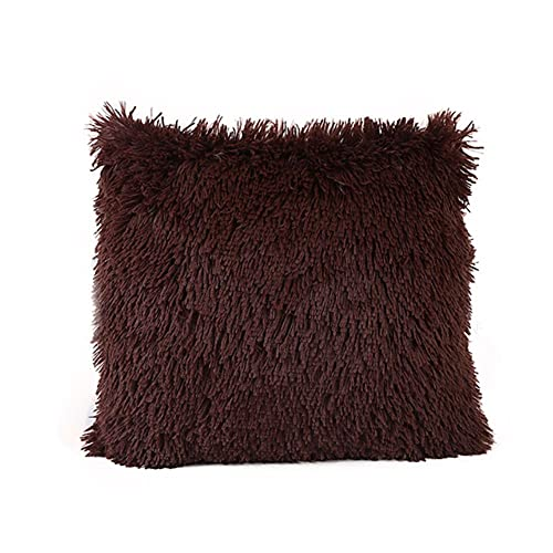 UKKD Cojín de Esponja con Memoria 12 Colors of Plush Solid Color Pillowcase, Waist Cushion Pillow, Sofa Decorative Pillow 43Cm * 43Cm / 16 * 16Inch#40